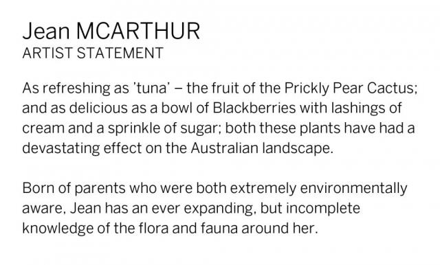 Jean McArthur Artist Statement