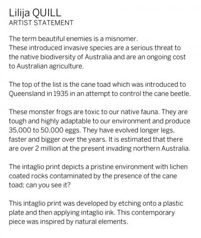 Lilija Quill Artist Statement