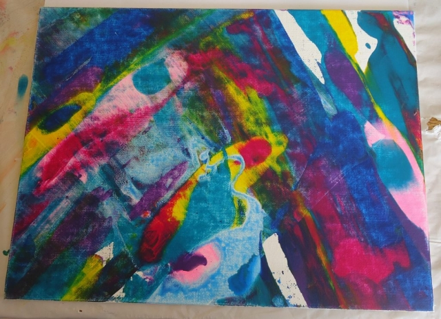Colourful abstract artwork.