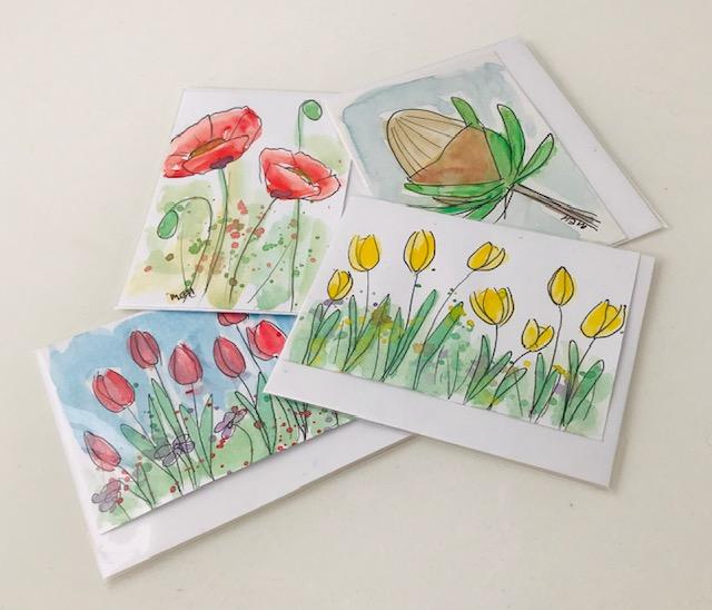 Floral Watercolour Cards