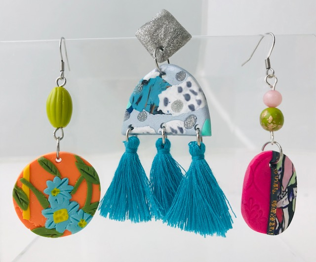 Colourful Patterned Polymer Clay Earrings